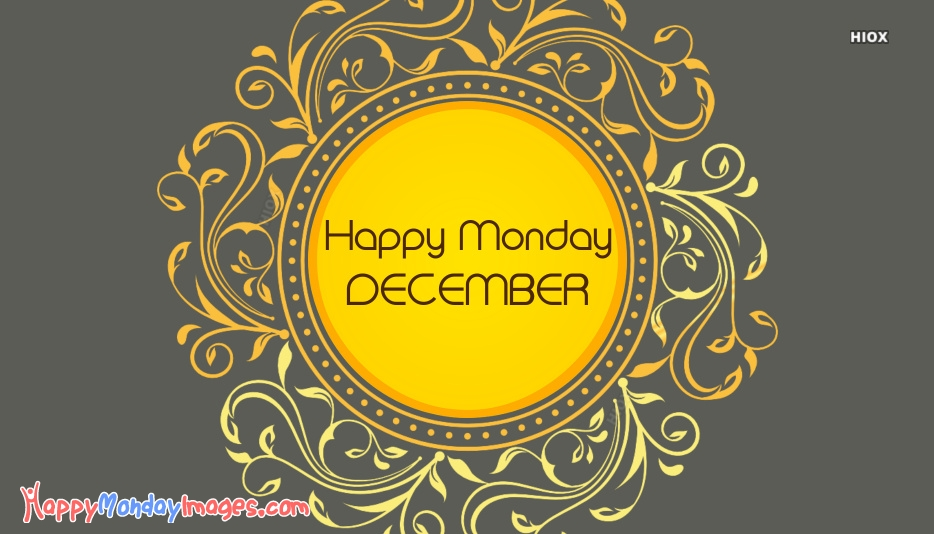 Happy Monday December Images