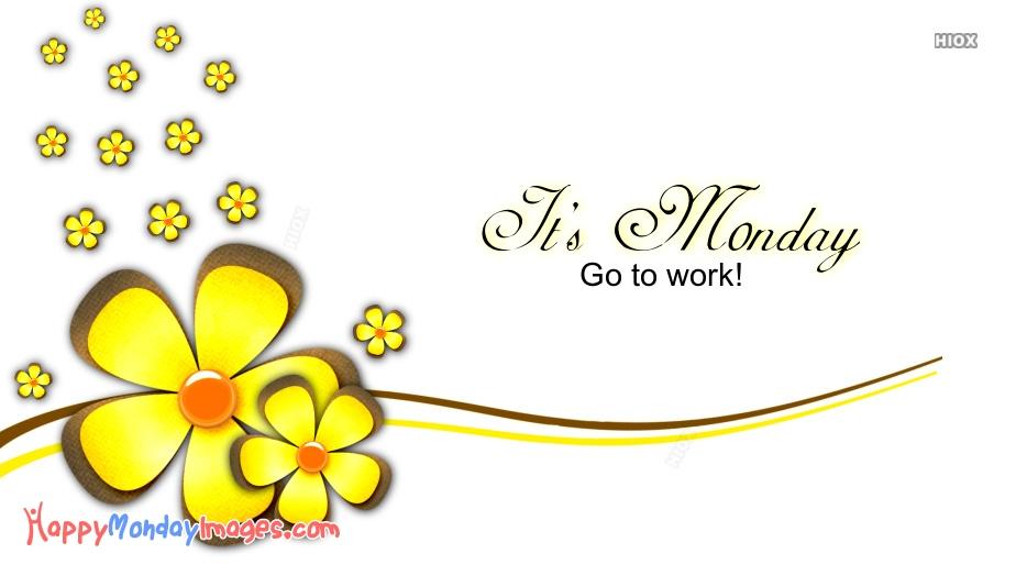 Happy Monday Yellow Flower