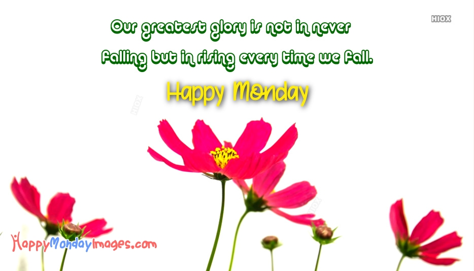 Monday Images | Our Greatest Glory Is Not In Never Falling, But In Rising Every Time We Fall