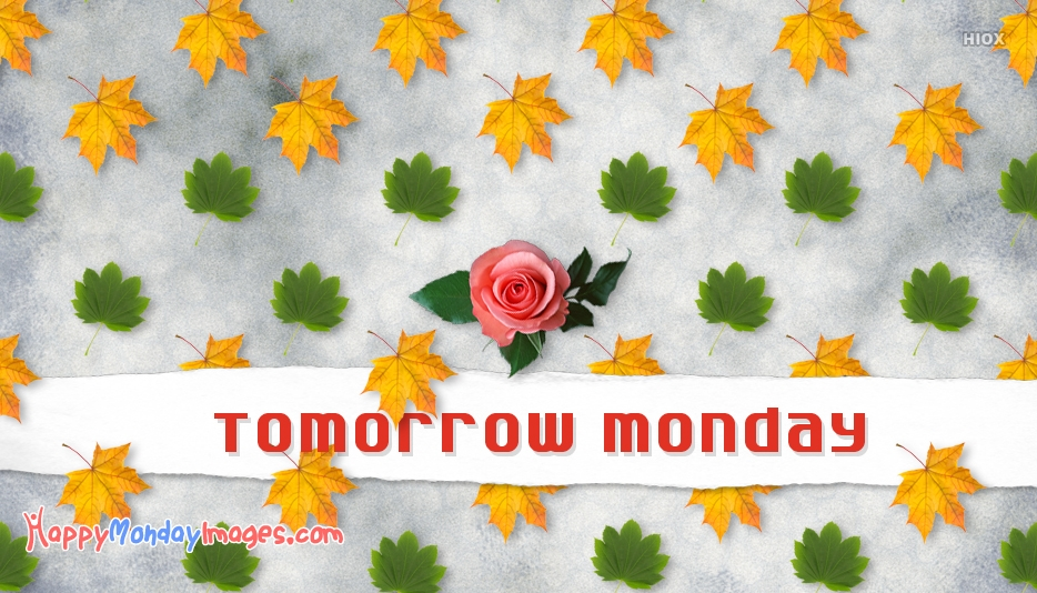 Tomorrow Monday Images, Pictures
