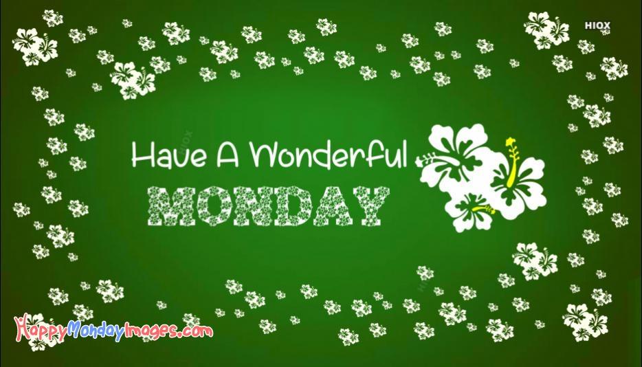 Wonderful Monday